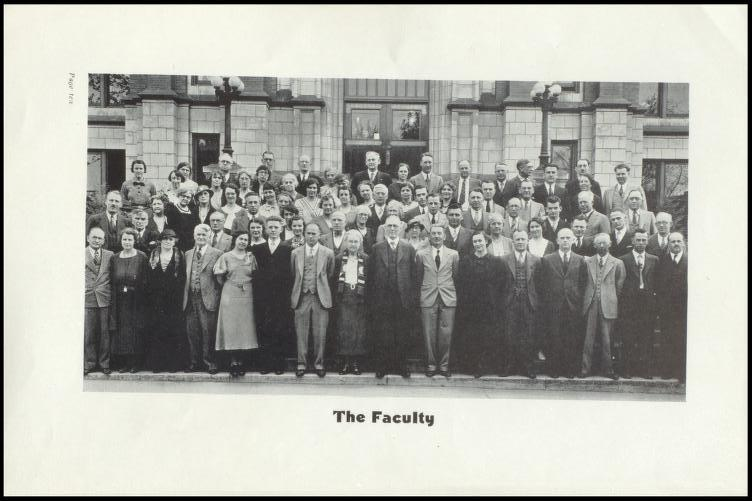 Faculty Photo from June 1934 Yearbook