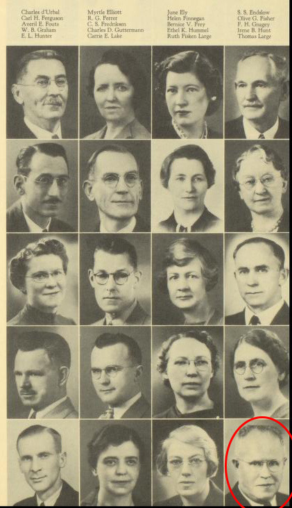 Selected Lewis and Clark HS Faculty Photos from 1939.