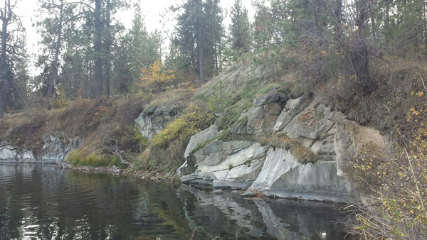 Medical Lake Granite from the western shore of Medical Lake