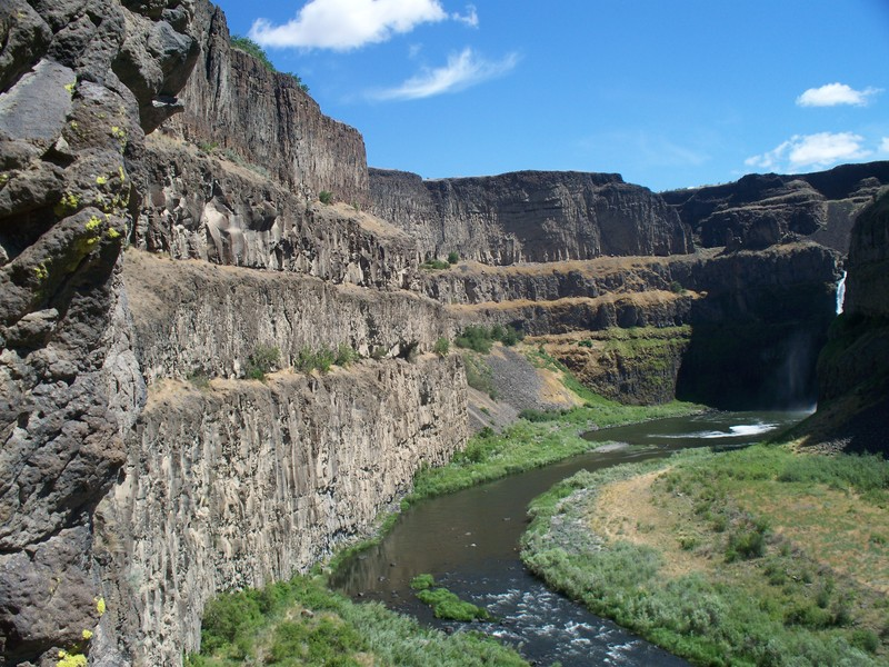 A view looking north towards the base of Palouse Falls