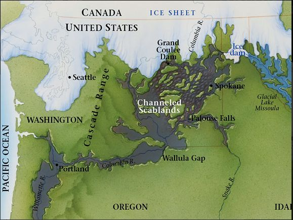 Map of the flood area
