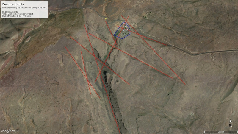 Figure 1 Map fractures and HU Ranch